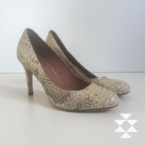 Snakeskin Look High Heels Pumps Shoes  7.5M
